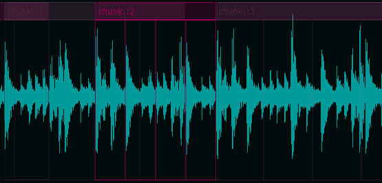 Audio Chunks region overview