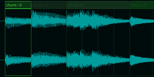 Audio Chunks with Glue option activated